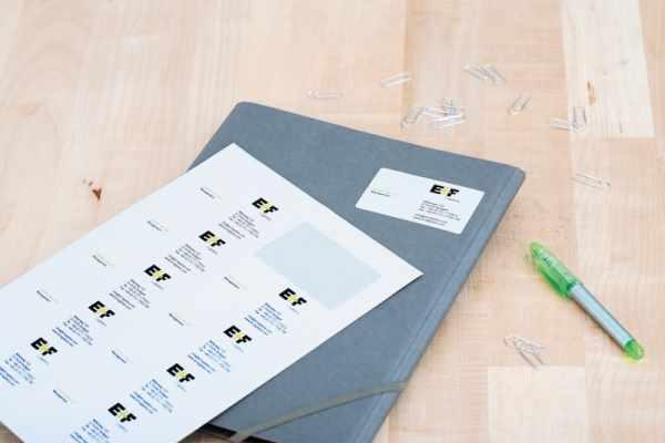 Visitenkarten Etiketten Online Kaufen Selbst Gestalten